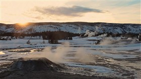Yellowstone Wintersunset
