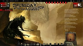 Dragon Hunt Rainmeter Desktop