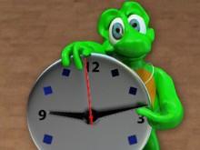Winky Analog Clock
