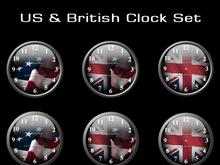 US & British Clock Set