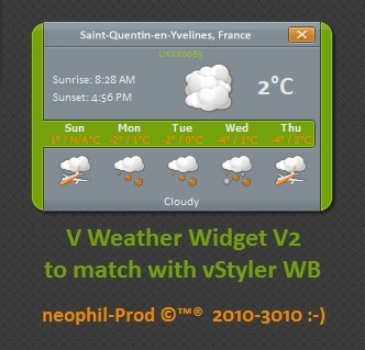 V Weather Widget V 2