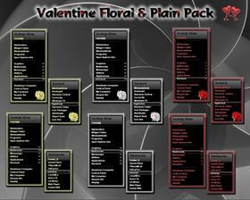 Valentine Floral/Plain Pack