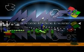 MAME logo with game objects