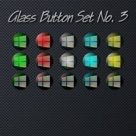 Glass Button Set No. 3