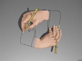 Drawing hand