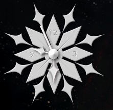 Snow Flake Clock