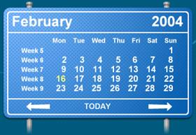 GuideSign Calendar Blue