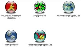 Messenger Apps XP Icons (globe)