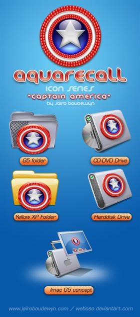 AquaRecall Icons - Captain America