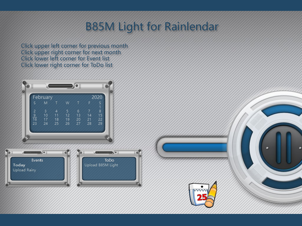 B85M Light Rainlendar