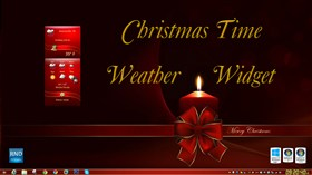 Christmas Time Weather Widget