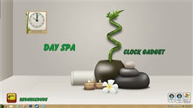 Day Spa Clock Gadget