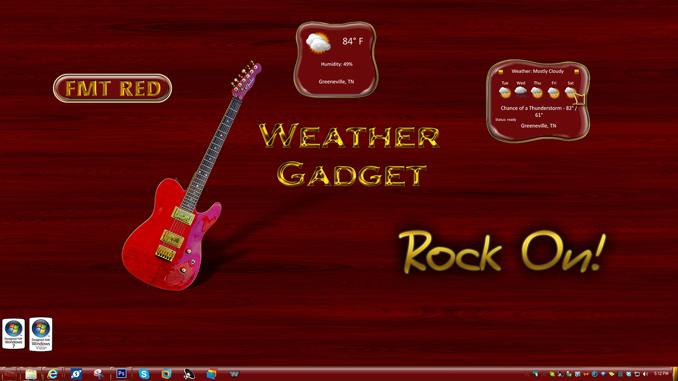 FMT Red Weather Gadget