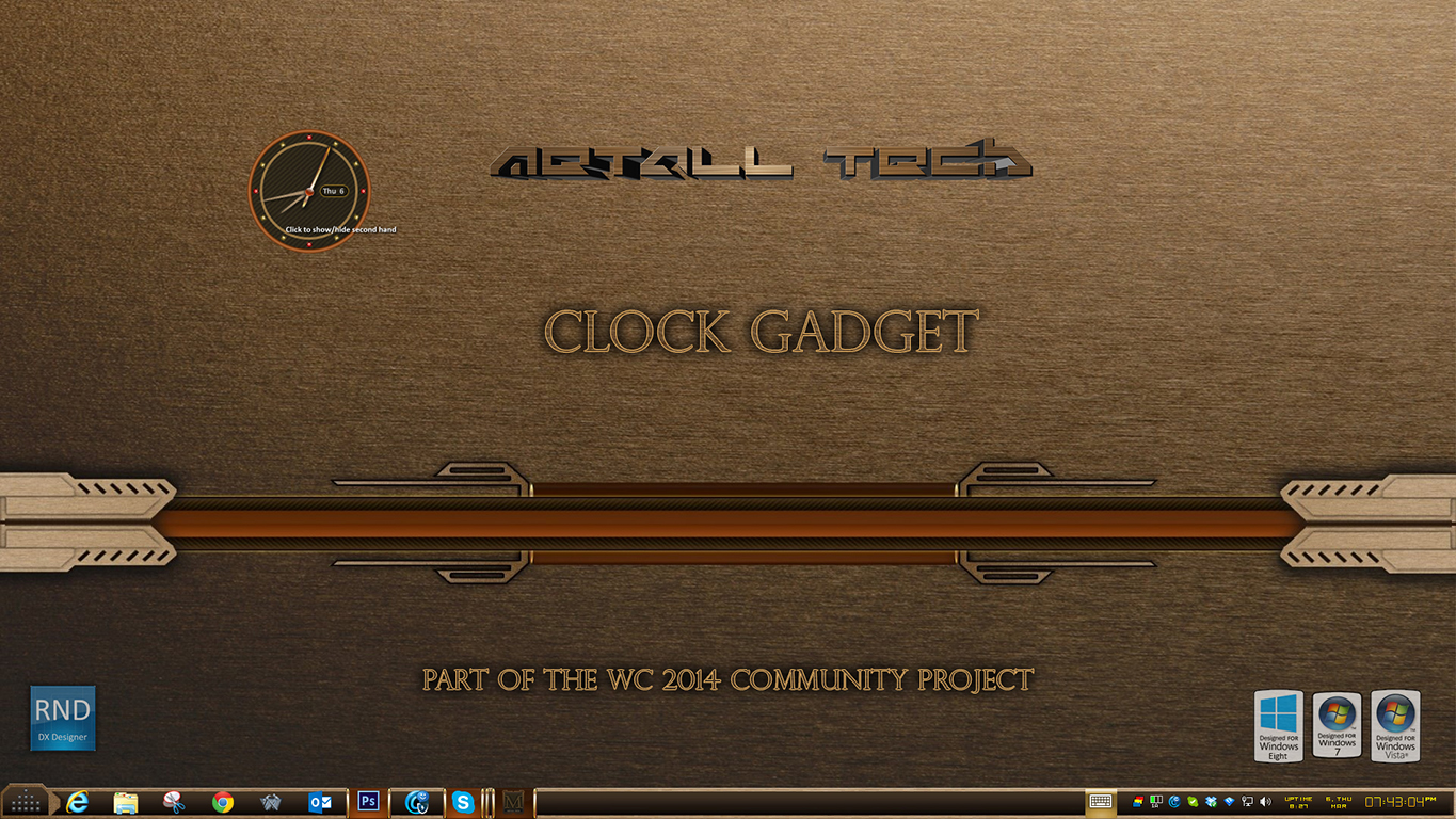 Metall Tech Clock Gadget