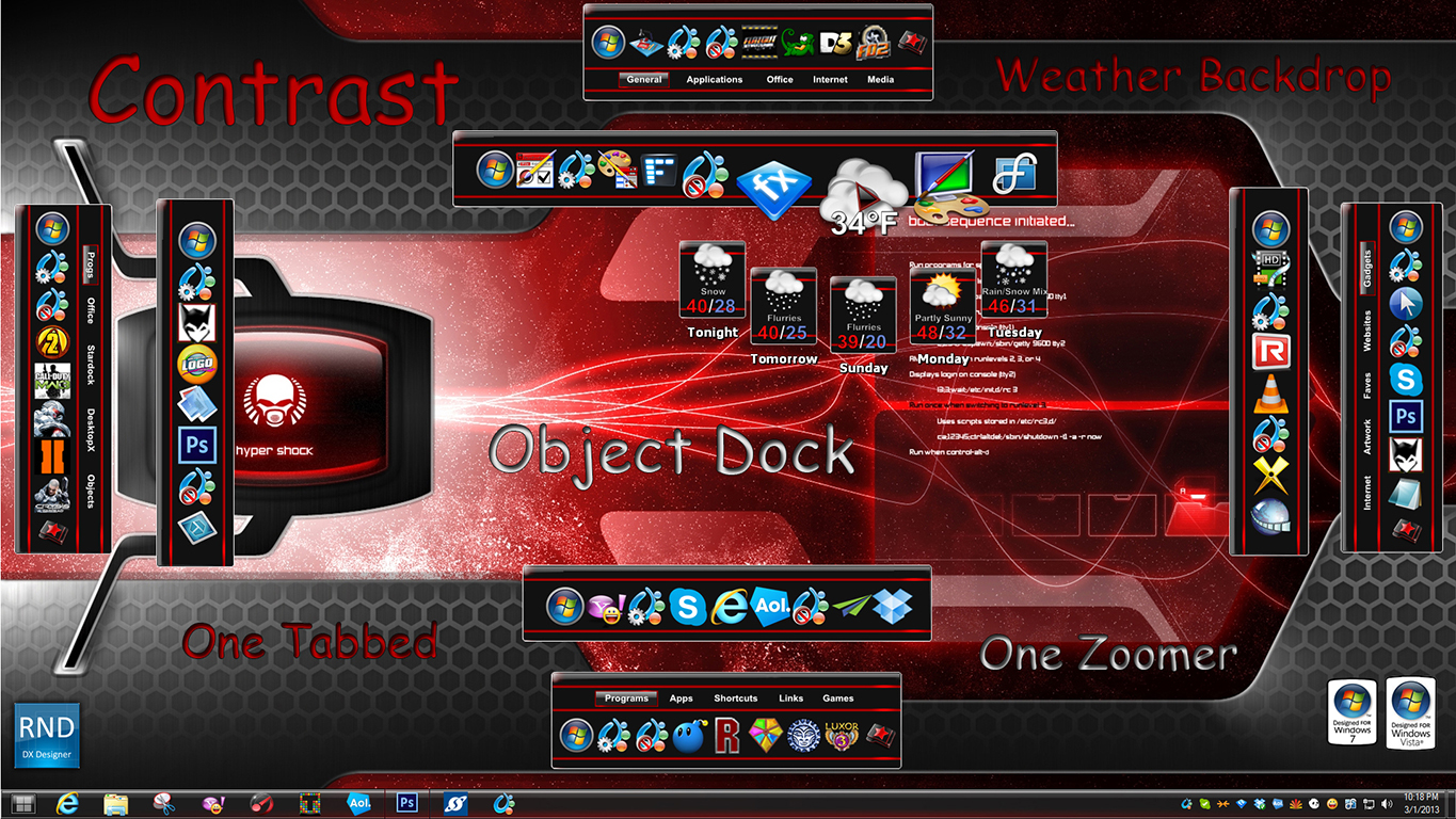 Contrast Docks And Zoomers