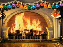 Virtual Christmas Fireplace
