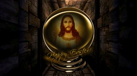 Happy Easter Jesus Globe 2pk