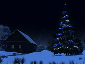 Christmas Tree at Night - Logon