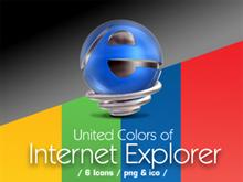 Internet explorer - United colors icons series